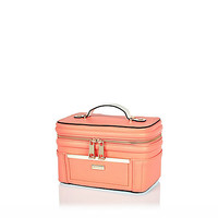 River Island Womens Coral zip vanity case
