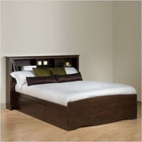 Prepac Espresso Manhattan Double Platform Storage Bed | All Modern