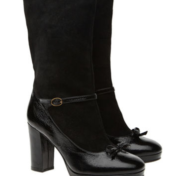 Marc By Marc Jacobs Black Suede & Leather Boots - UK 5.5 | Clothing | Rokit Vintage Clothing