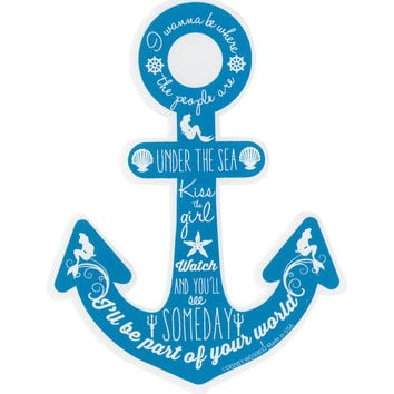 Disney The Little Mermaid Anchor Quotes Sticker