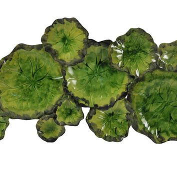 Metal Lily Pad Wall Decor Iron
