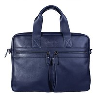 Gorgeous Zipper Cow Leather Men's Briefcase Trinity Place Department Store
