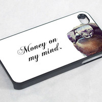money on mymind Dolla Dolla Bill Sloth - iPhone 4 Case / iPhone 4S Case / iPhone 5 Case