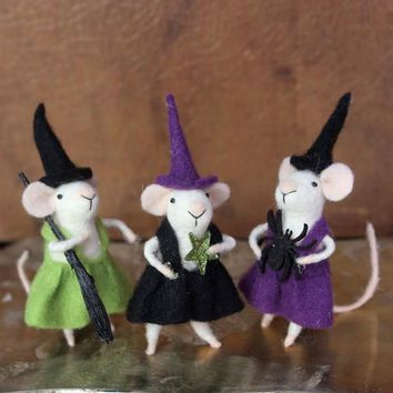 The Weird Sisters (Set Of 3) - Halloween Mice
