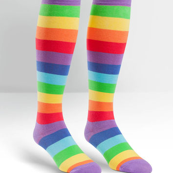 Rainbow Print Knee High Unisex Socks