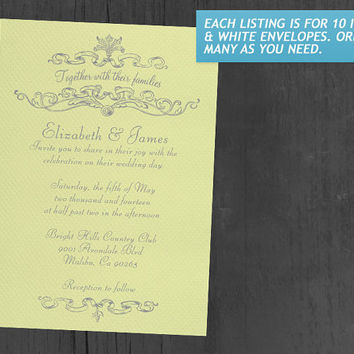 Yellow Simple Luxury Wedding Invitations | Invites | Invitation Cards