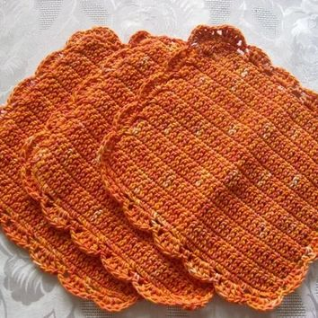 Hand Knit Washcloths - Dishcloths-Set Of Three