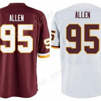 American 95 Jonathan Allen Football Jerseys Man 2017 Draft Pick Jonathan Allen Jersey For Sport Fans Red White Stitched Top Quality