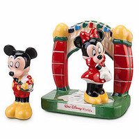 disney parks mickey & minnie at the gate salt pepper shakers new sealed