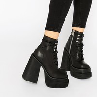 UNIF Bratz Black Lace Up Boots