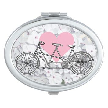 Bicycle for Two Hydrangea Love Compact Mirror