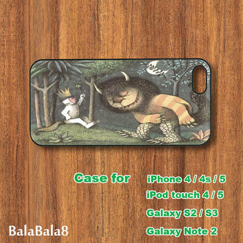 Where the Wild Things Are  - Blackberry Q10 , Z10 case, iPhone  5 / 4 case,  iPod 5 / 4 case,  Samsung S3, samsung S4 case, Galaxy note 2