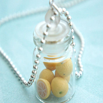 lemons in a jar necklace
