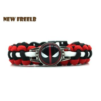 Deadpool Dead pool Taco New&Classic Movie Superhero  2 Logo Paracord Bracelet Black Red Handmade Outdoor Survival Jewelry for Unisex fans 3Style AT_70_6