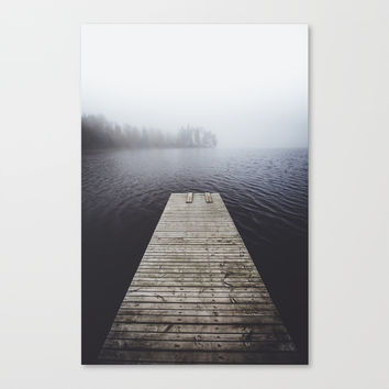 Fading into the mist Canvas Print by happymelvin