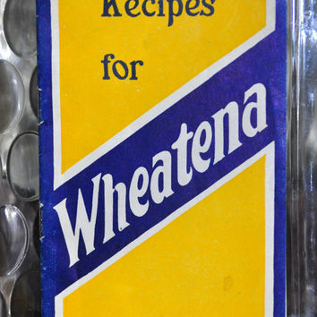RARE Vintage Wheatena Product Pamphlet Cookbook. Recipes for Wheatena - Written by FANNIE FARMER! Collectible Paper Ephemera. Advertising.
