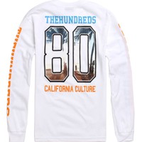 The Hundreds Sunnyside Sunset Long Sleeve T-Shirt - Mens Tee - White -