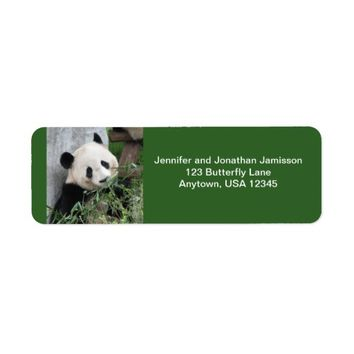 Panda Return Address Labels, Green Label
