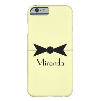 Personalized Vintage Bow Phone Case Barely There iPhone 6 Case