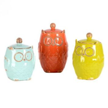 Owl Canister, Set of 3 | Kirkland's