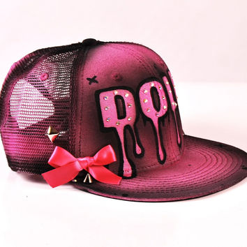 Sweet Doll - Hand Painted Art Snapback Hat