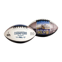 Superbowl 48 Champions Full Size White panel football