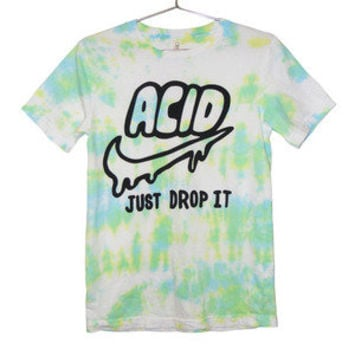 Killer Condo — Acid Just Drop It T-shirt | Black on Tie Dye