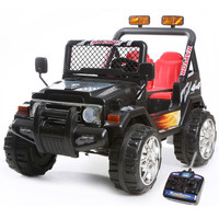 12v Two Seater Black Ride On Kids Electric Jeep - £169.99 : Kids Electric Cars, Little Cars for Little People