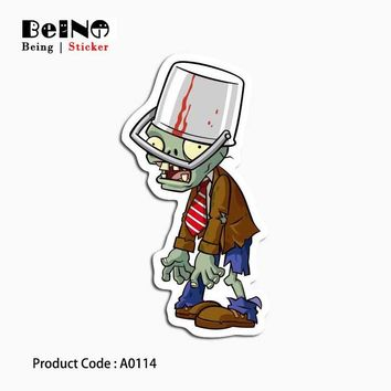 zombie pea sticker The walking dead ghost waterproof suitcase laptop guitar luggage skateboard bicycle toy lovely A0114 stickers