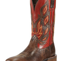Men's Ariat Boots Thunder Brown & Red Nighthawk Cowboy Boots
