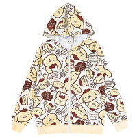 Buy Sanrio PomPomPurin Face Zip-Up All-Over Print Jacket with Hood at ARTBOX