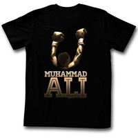 Muhammad Ali Men's  Gold T-shirt Black Rockabilia