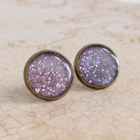 Purple Earrings, Post Earrings, Stu.. on Luulla