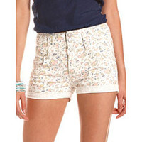 High Waisted Ditsy Floral Short: Charlotte Russe