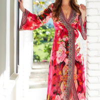Shahida Parides Wanderlust Dress | Floral Bell Sleeve Dress