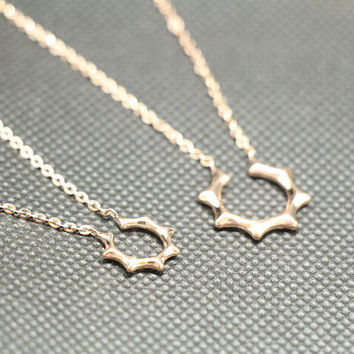A pair of love lovers necklace,rose gold necklace,couple necklace,lovers necklace,promise necklace