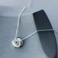womens girls unique 925 sterling silver necklace Christmas gifts 84