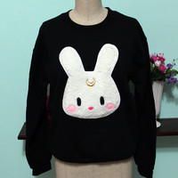 Sailor Moon Inspired Usagi Kawaii Bunny Oversized Sweatshirt