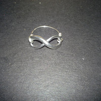 Anitqued Silver Infinity Wire Wrapped Ring
