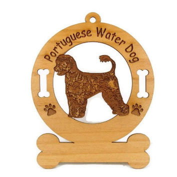 3792 Portuguese Water Dog Standing Personalized Ornament