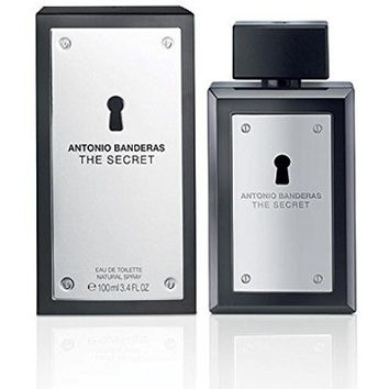The Secret Eau De Toilette Spray Men by Antonio Banderas, 3.4 Ounce