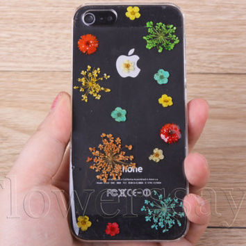 iPhone 6 case iPhone 6 plus Pressed Flower, iPhone 5/5s case, iPhone 4/4s case,  5c case Galaxy S4 S5 Note 2 note 3 Real Flower case NO:F02
