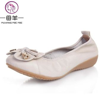 Plus Size(35-42) 2017 Shoes Woman Genuine Leather Women Shoes 5 Colors Loafers Women's