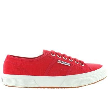 ONETOW Superga 2750 COTU Classic - Red Canvas Lace-Up Sneaker
