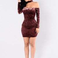 Scarlet Empress Dress - Plum