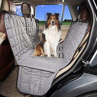 HAPYFOST Dog Seat Cover Waterproof Hammock Car Bench Seat Cover for Pets (GREY)