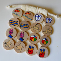 Memory Game, Surf's Up!, Fun in the Sun, Beach, Waldorf toy, Game