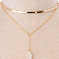 Skipping Stones Layered Choker Necklace