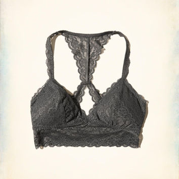 Girls Removable-Pads Lace Racerback Longline Bralette | Girls Bras & Undies | HollisterCo.com