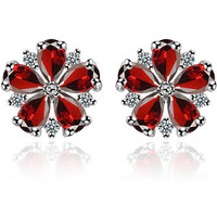 Stylish Handcrafts Gemstone Simple Design Floral Earring Accessory [4918329988]